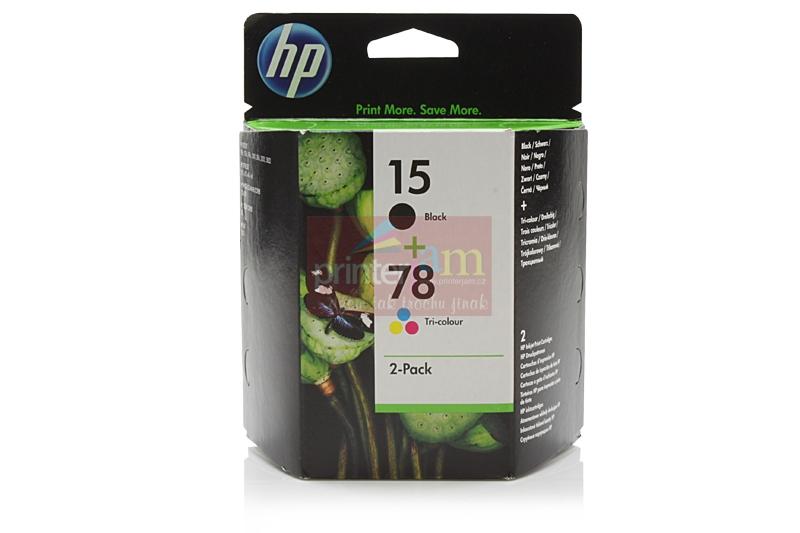 Originální inkoustové kazety HP SA310AE (15+78) - sada 2ks HP C6615DE (15) + HP C6578DE (78)
